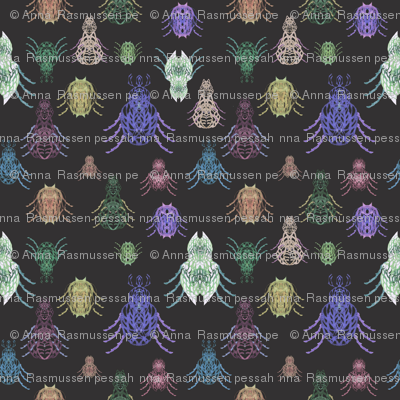 mystical night fantasy beetles