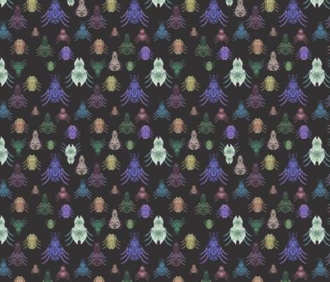 mystical night fantasy beetles fabric by arrpdesign on Spoonflower - custom fabric