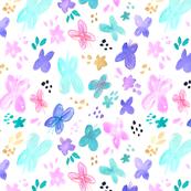 Garden Butterflies in Pastel Colors