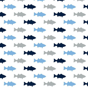 multi fish || Carolina blue