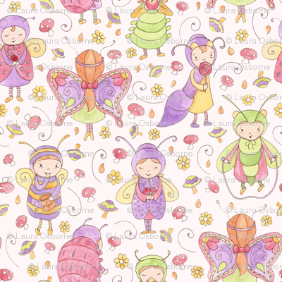 Little whimsical bugs