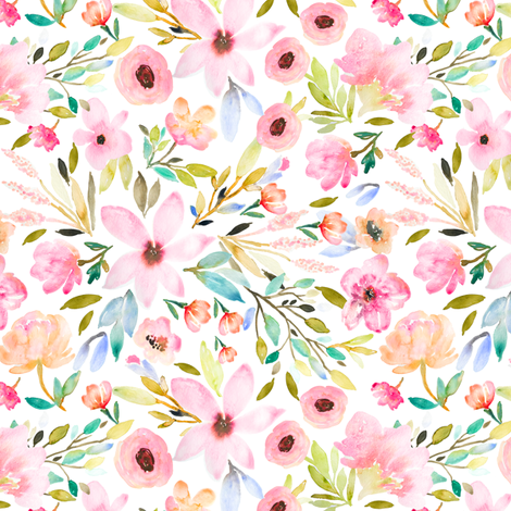 Indy Bloom Design MAE GREEN B fabric by indybloomdesign on Spoonflower - custom fabric