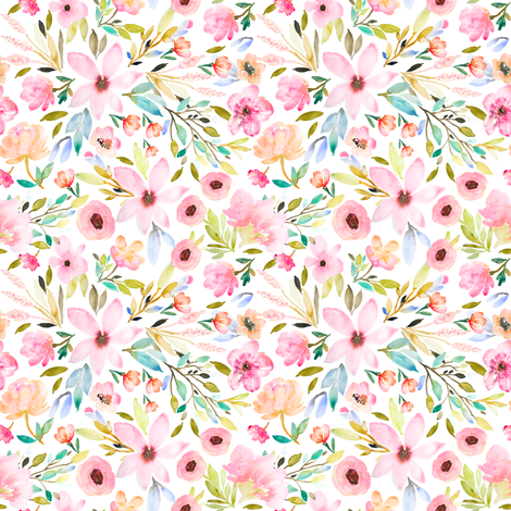 Indy Bloom Design MAE GREEN A fabric by indybloomdesign on Spoonflower - custom fabric