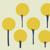 Yellow Pop Trees - LARGE