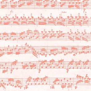 Bach's handwritten sheet music - seamless, coral