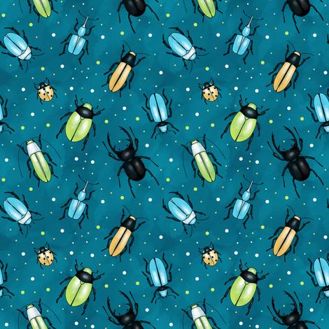 Beetles fabric by elena_naylor on Spoonflower - custom fabric