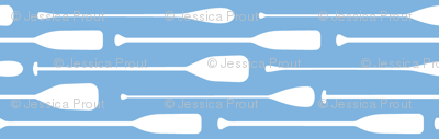 paddles on Carolina blue