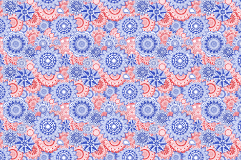 Red_White_Blue-Mandala-Maze fabric by julistyle on Spoonflower - custom fabric