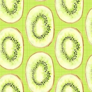 Watercolor Kiwi Lime Green Fruit Stripe Summer Food_Miss Chiff Designs