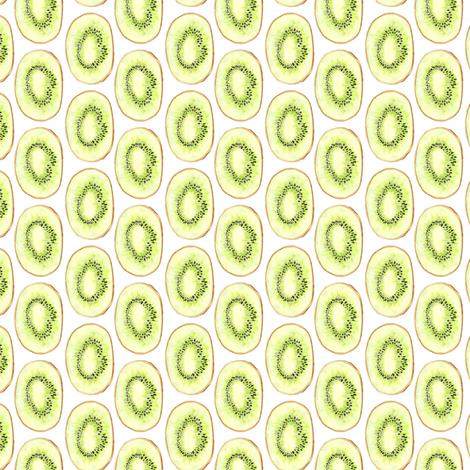 Watercolor Kiwi Fruit Summer Garden Food Green Lime Stripe_Miss Chiff Designs fabric by misschiffdesigns on Spoonflower - custom fabric