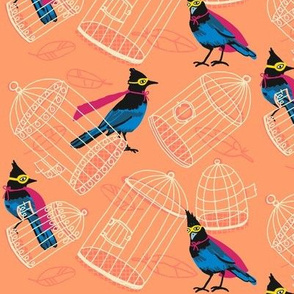 birdcage tipsy_super jay [peach]