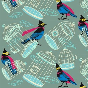birdcage tipsy_super jay [pistachio]