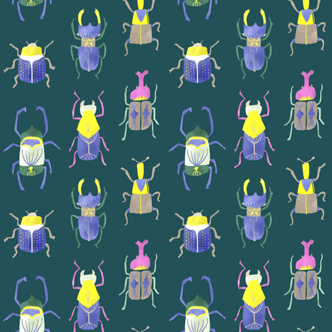 beetle fabric by canigrin on Spoonflower - custom fabric