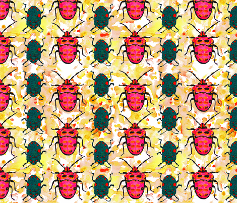 Insect Watercolor fabric by amyjeanne_wpg on Spoonflower - custom fabric