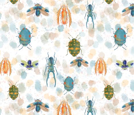 Bombastic Beetles fabric by jollyjaroszko on Spoonflower - custom fabric