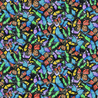 Colorful Watercolor Butterfly Pattern