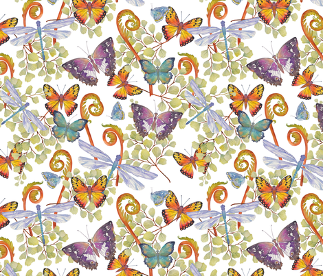 Winged Things fabric by divadeba on Spoonflower - custom fabric