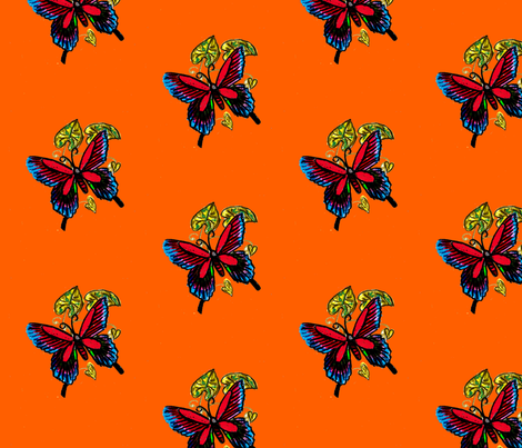 butterfly fabric by agapo on Spoonflower - custom fabric