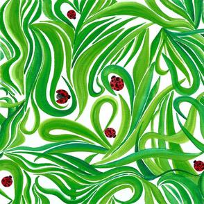 Grass & Ladybug