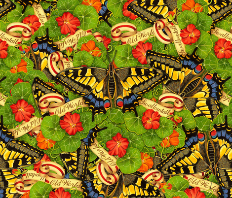 Swallowtail Cacophony fabric by patriciasheadesigns on Spoonflower - custom fabric