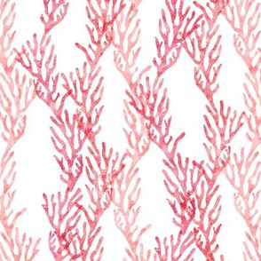 (small scale) coral - beach fabric