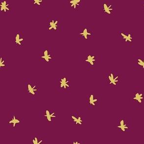 Messy Stars - Plum