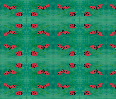 ladybug fabric by chickoritapita on Spoonflower - custom fabric