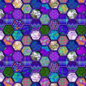 Small METALLIC MIX HEXIES 3D PURPLE