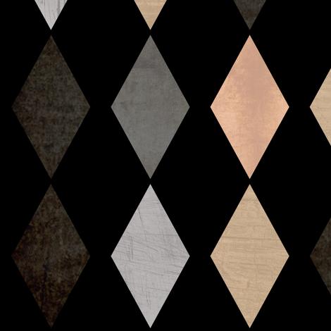 Grunge . Diamonds . fabric by fuzzyfox on Spoonflower - custom fabric