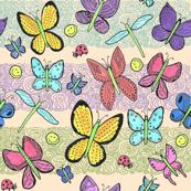 Watercolor Imaginary Butterflies