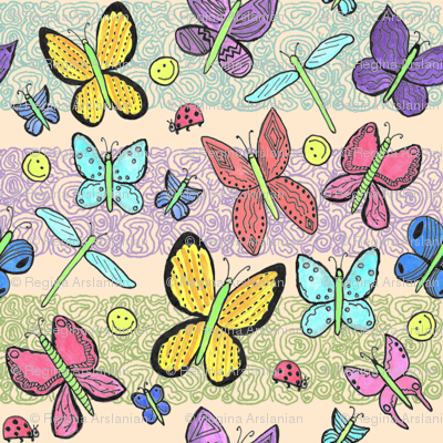 Watercolor Imaginary Butterflies