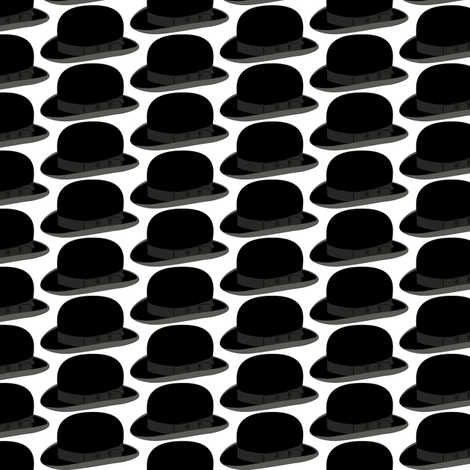 Bowler hats fabric by susiprint on Spoonflower - custom fabric