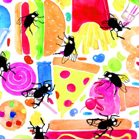 feast for flies fabric by miranema on Spoonflower - custom fabric