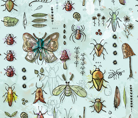 Forest Floor fabric by mulberry_tree on Spoonflower - custom fabric