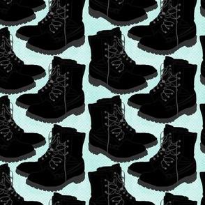 Boots on Turqois