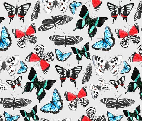 Float Like a Butterfly fabric by tangerine-tane on Spoonflower - custom fabric