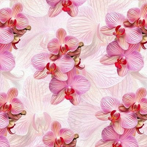 pink orchid - painted