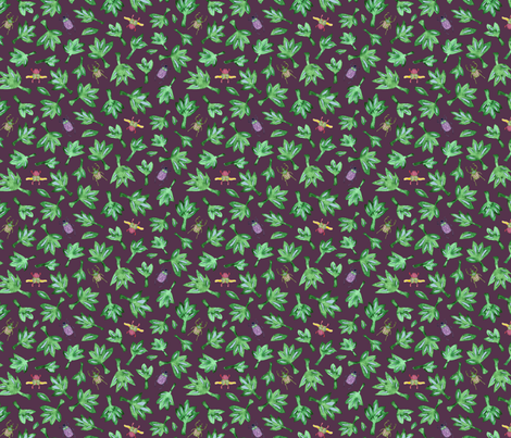 Scarabs_and_leaves fabric by samantha_w on Spoonflower - custom fabric