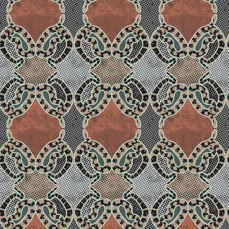 Snake geometric #2 fabric by susiprint on Spoonflower - custom fabric