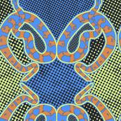 Snake textured blue
