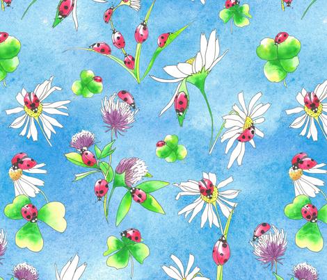 ladybugging fabric by hanneke_binnen on Spoonflower - custom fabric