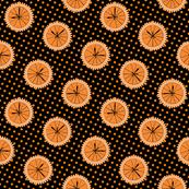 Orange Clocks on dots