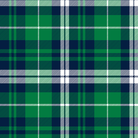 (custom scale) fall plaid - navy and green - wholecloth plaid coordinate fabric by littlearrowdesign on Spoonflower - custom fabric