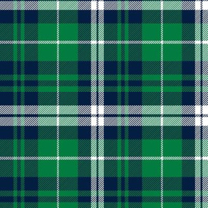 (custom scale) fall plaid - navy and green - wholecloth plaid coordinate