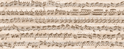 Bach's handwritten sheet music - seamless, natural brown