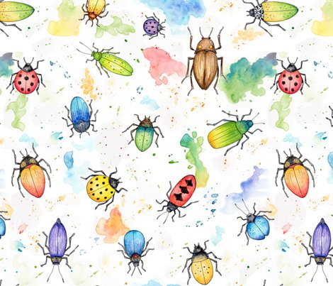 Rwhimsical_watercolour_beetles_300_slightly_smaller_contest_entry_hazel_fisher_creations_shop_preview