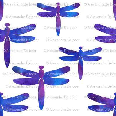 Watercolour dragonflies