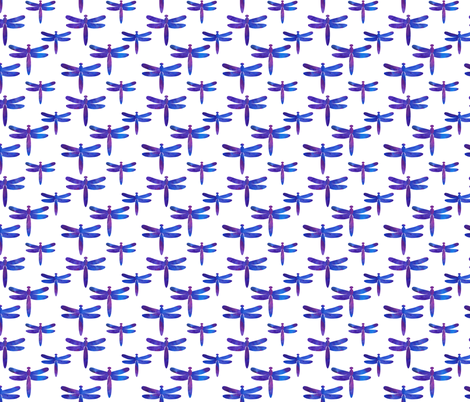 Watercolour dragonflies fabric by alexsan on Spoonflower - custom fabric