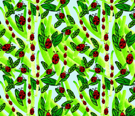 Ladybug_Lane fabric by oceangirlcreativeco on Spoonflower - custom fabric