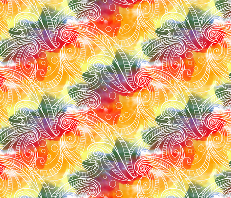 hawaii rainbow waves fabric by infiknit_fabrics on Spoonflower - custom fabric
